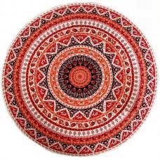 Mandala obrus červený