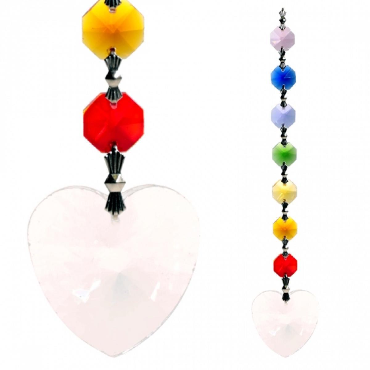 Závesný čakrový krištáľ - srdce