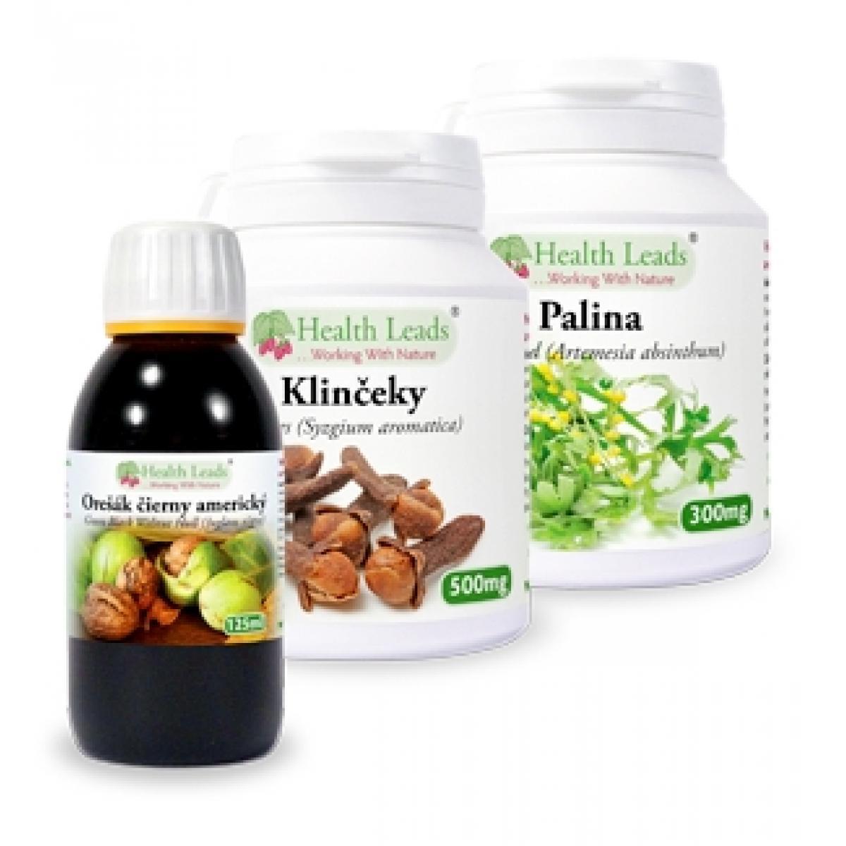 Proti parazitálny balíček - Orešák čierny - Palina - Klinček