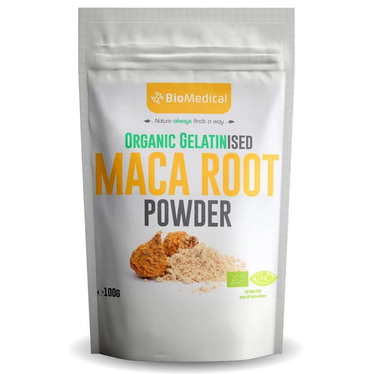 Organic gelatinised Maca prášok - 100 g