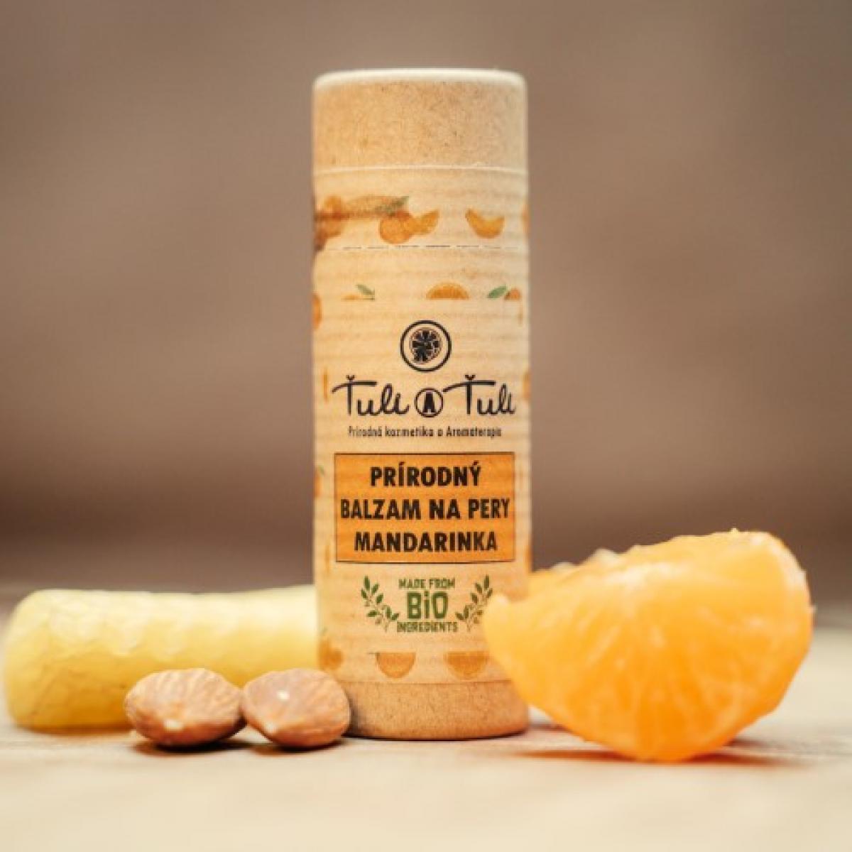 Prírodný balzam na pery - Mandarinka - 15 ml
