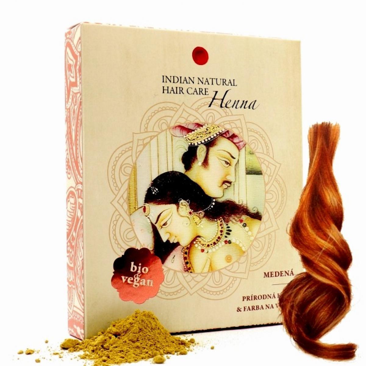 Henna - Prírodná farba a kúra na vlasy - Medená - Indian Natural Hair Care 200 g