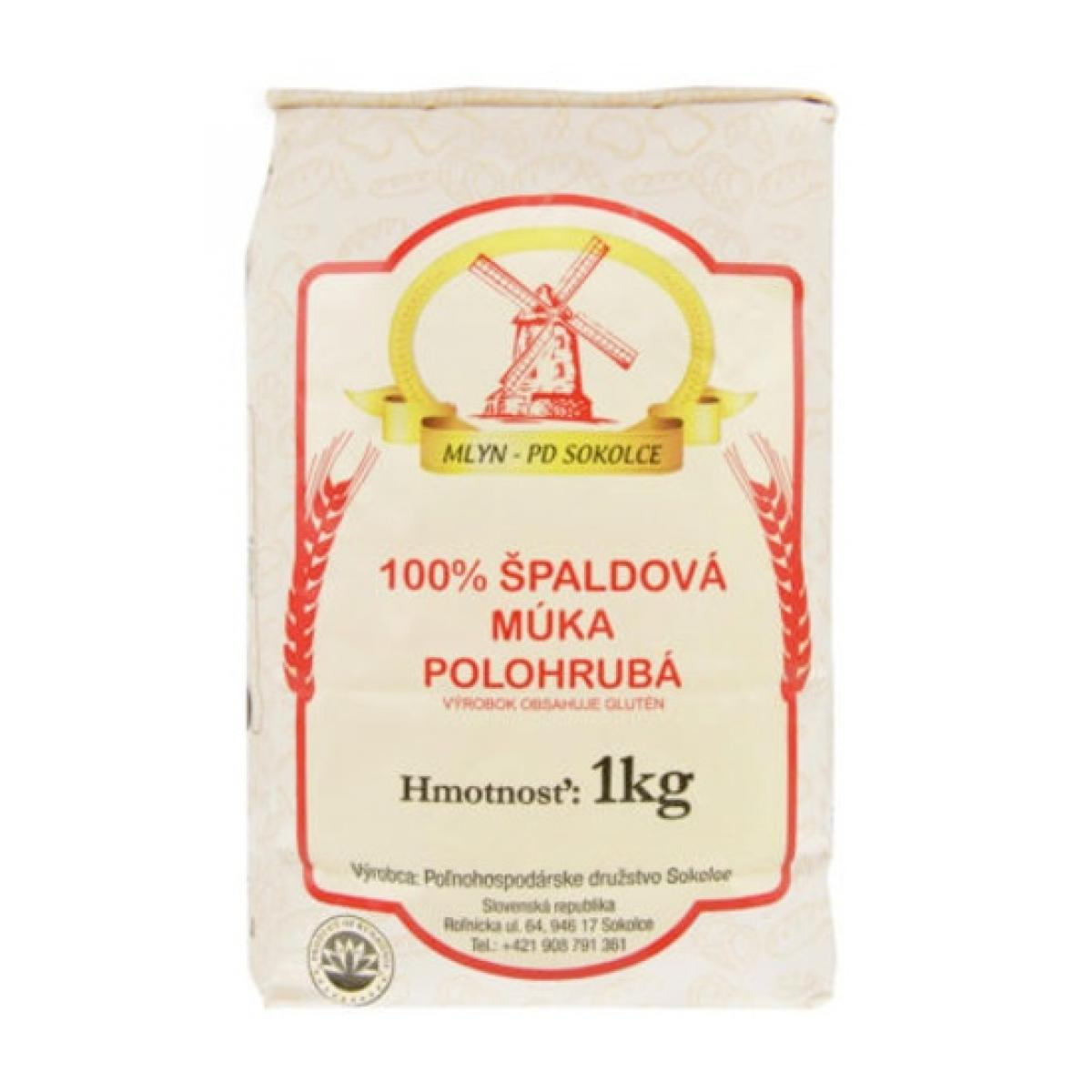 Múka Špaldová polohrubá biela 100% - 1 kg