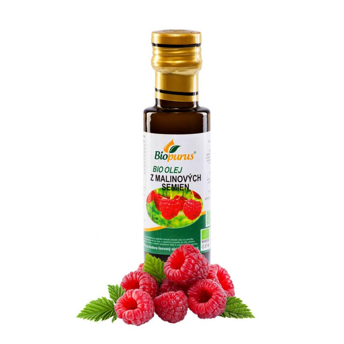 Olej z Malinových semien BIO - 100 ml - Biopurus
