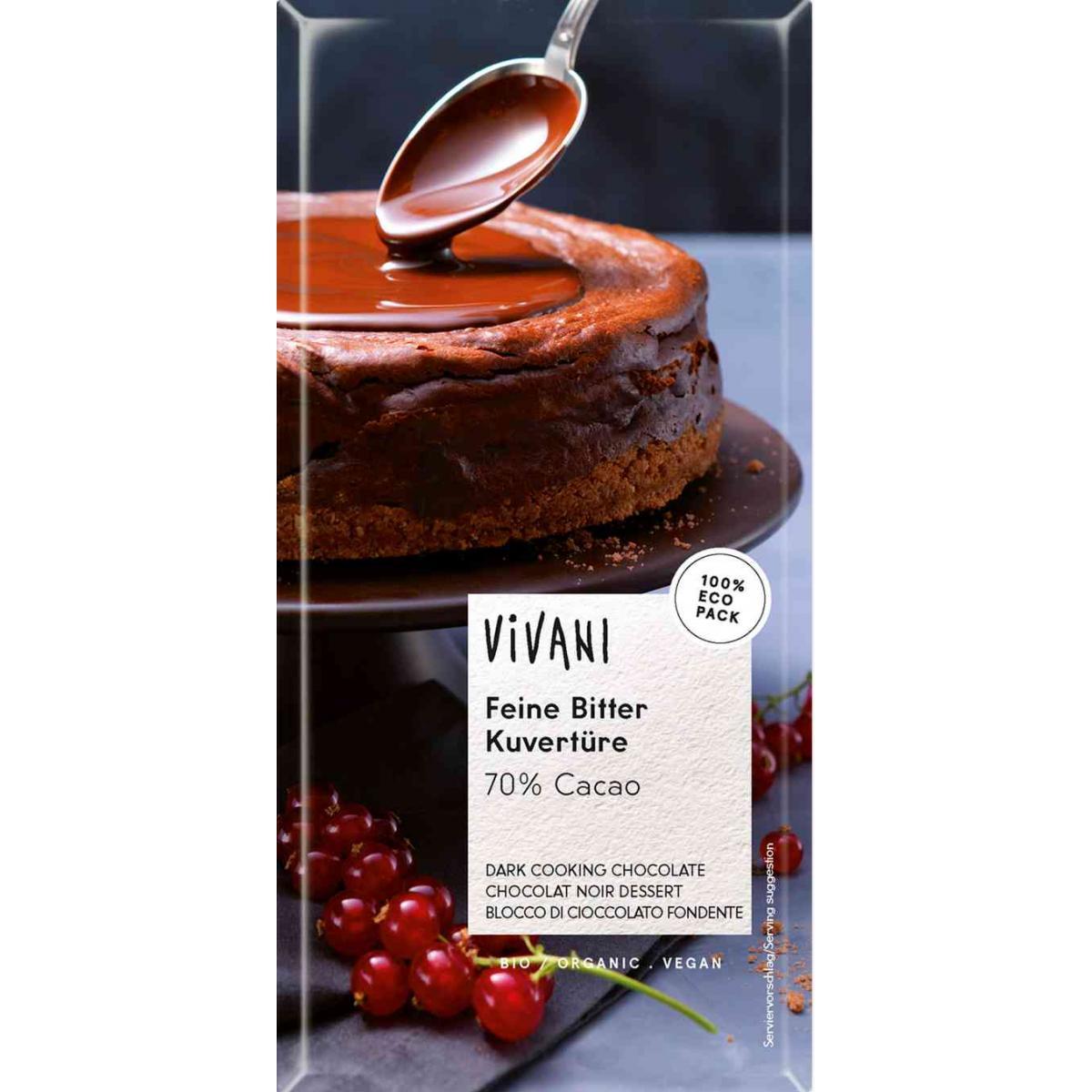 Horká čokoláda na varenie BIO -Vivani - 200 g