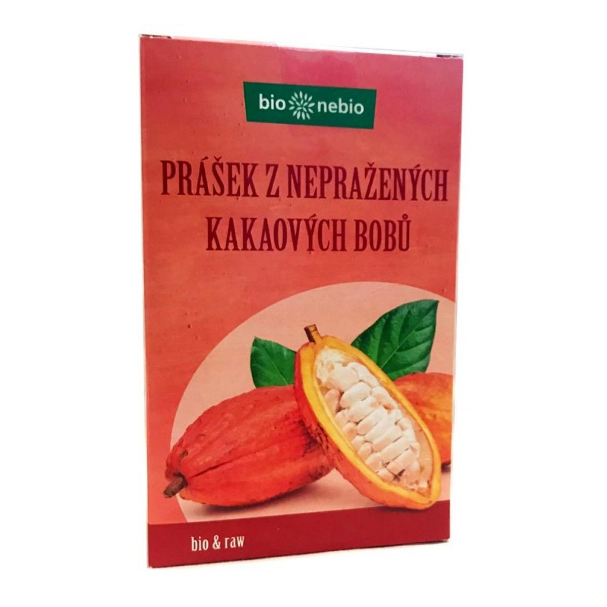 Prášok z nepražených kakaových bôbov so zníženým obsahom tuku RAW - 150 g