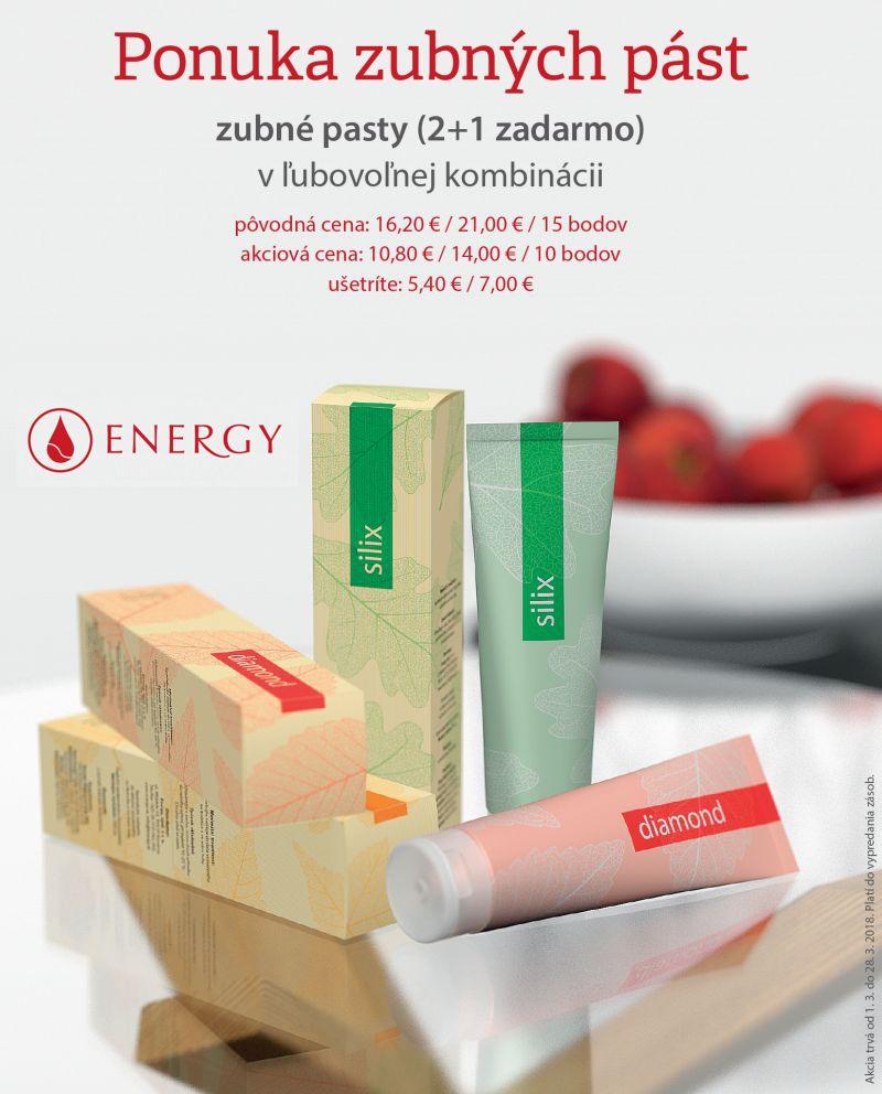 AKCIA: zubné pasty ( 2 +1 zdrarma )